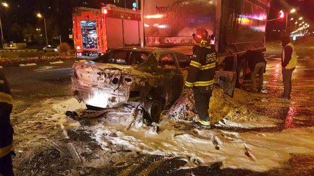 ЧП: автомобиль наполнился зерном и загорелся…