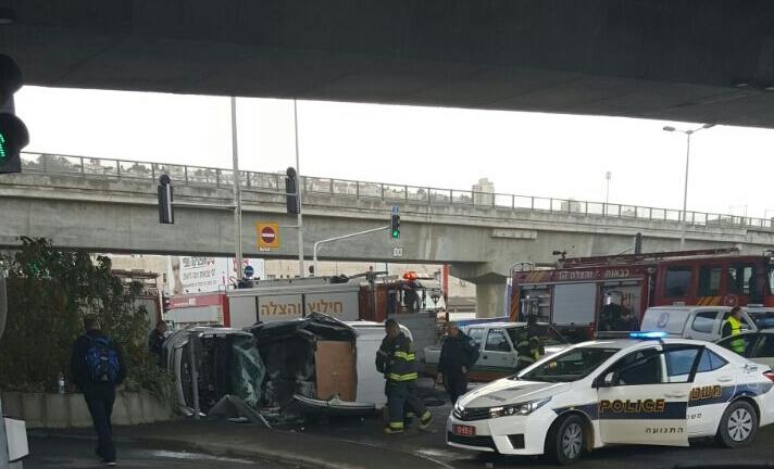 Авария рядом с Кармельским туннелем: 8 пострадавших