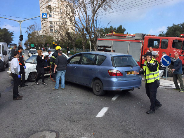 Хайфа: две аварии в субботний день