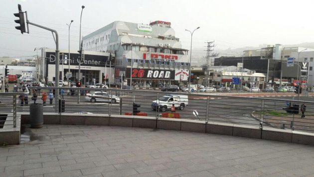 Подозрение: на стоянке ТЦ «Лев ха-Мифрац» заминированный автомобиль