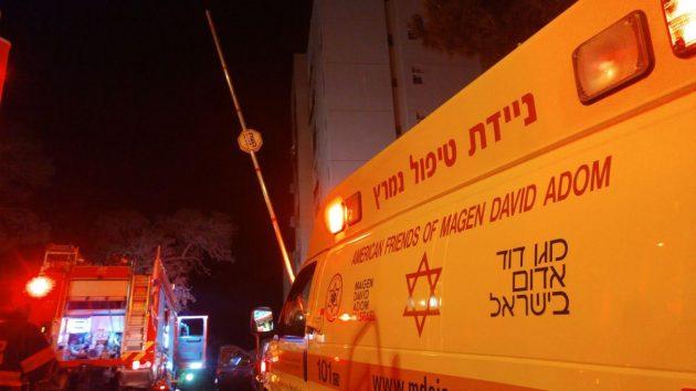 Пожар на Центральном Кармеле: двое пострадавших