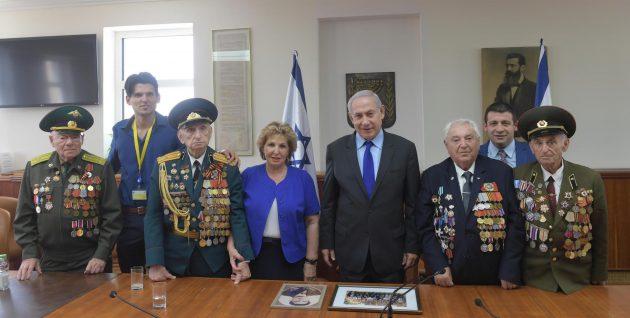 Наши ветераны встретились с Б.Нетаньягу и начгенштабами Израиля и США