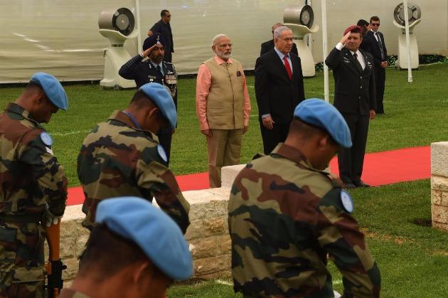 Премьер-министры Израиля и Индии побывали сегодня в Хайфе