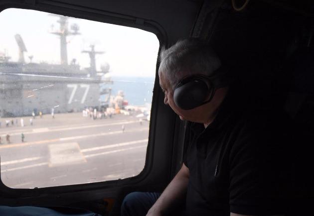 Нетаньягу на американском авианосце: теперь я знаю сколько он стоит