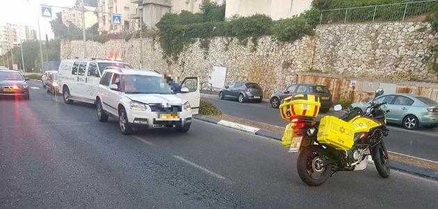 ДТП на улице Дерех Яд ле Баним