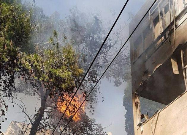 Пожар на Центральном Кармеле, есть пострадавшие