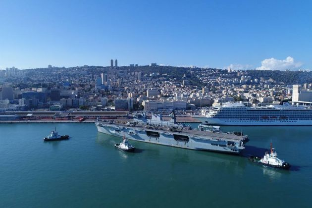 В Хайфский порт вошёл флагман ВМФ Великобритании
