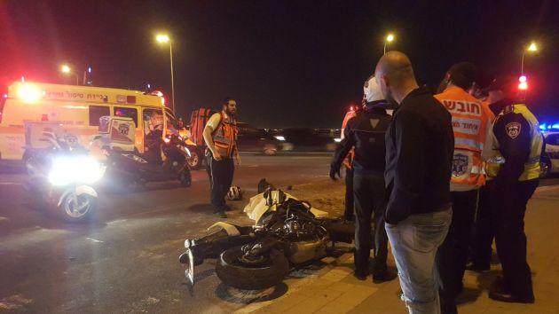На окраине Хайфы погиб мотоциклист