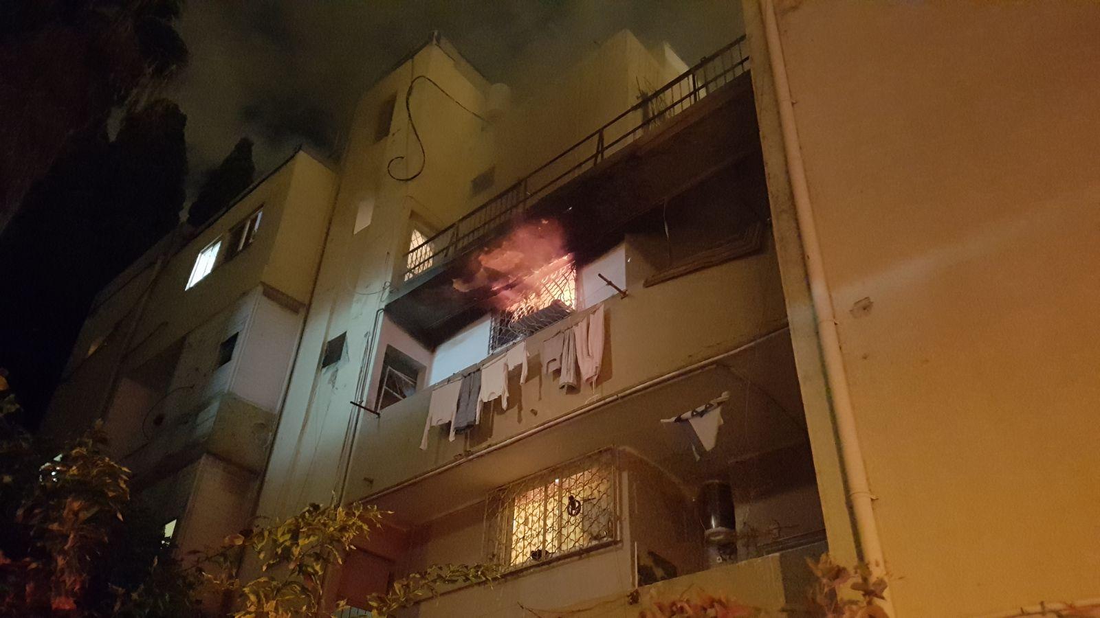 Пожар в районе рынка «Тальпиот»