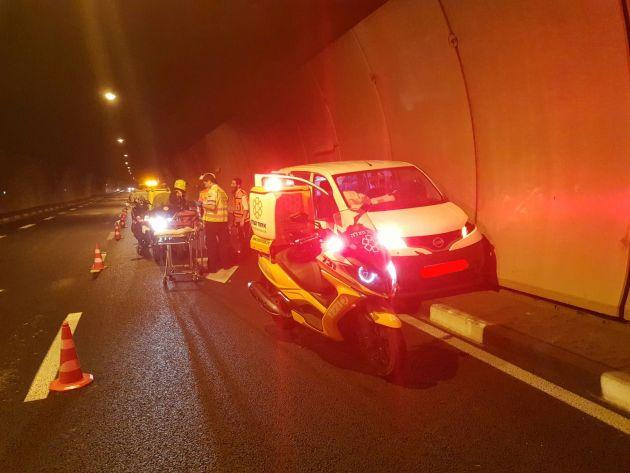 Авария в Кармельском туннеле: 4 пострадавших