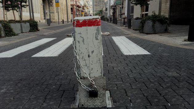 По просьбе хайфских владельцев кафе и баров: новая пешеходная зона