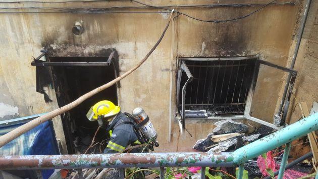 Пожар на Ахузе: погибла женщина