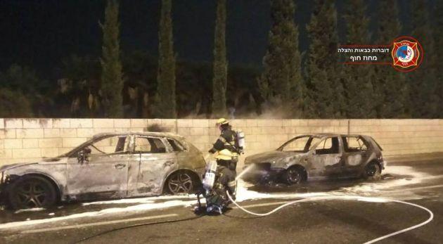 В Хайфе вновь горят автомобили