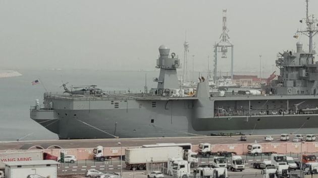 В Хайфский порт вошёл огромный корабль ВМФ США с 2500 военнослужащими на борту