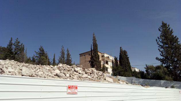Неве-Шаанан. старые дома разрушены, создана круглая развязка