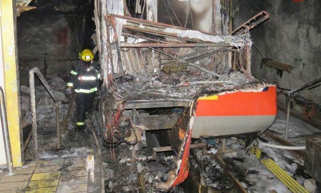 Сегодняшним вечером: операция по извлечению сгоревших вагонов хайфского метро