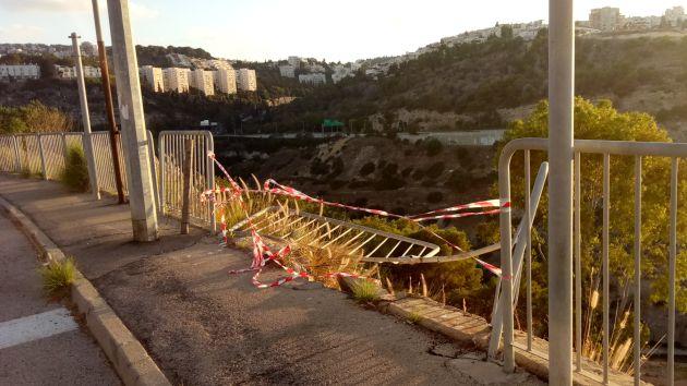 Происшествие в Неве-Шаанане: автомобиль скатился в ущелье