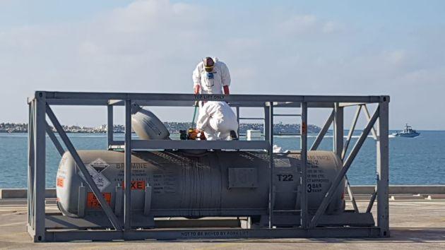 ЧП в Хайфском порту: утечка брома