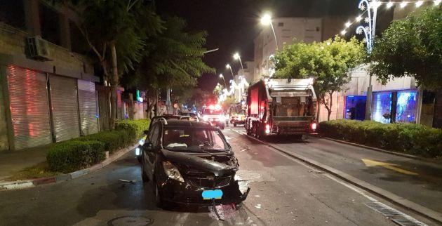 Авария на улице Герцль: трое пострадавших