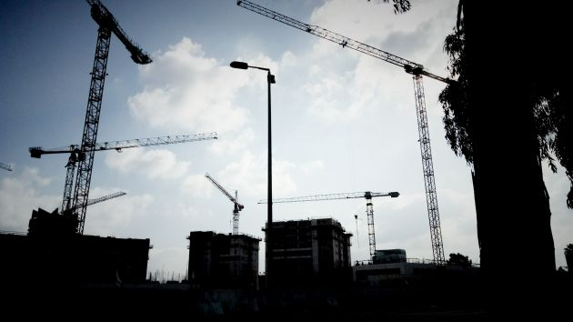 Новый жилищный район в Кирьят-Элиэзере: уже видны очертания первых зданий