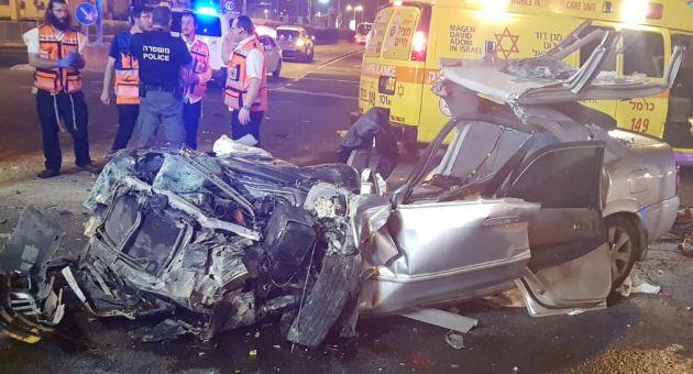 Тяжёлая авария на окраине Хайфы