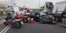 Водитель оказался на обочине шоссе №22