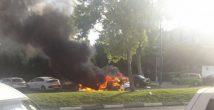 Полиция: загоревшийся автомобиль взорвали преступники
