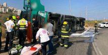 Чек-Пост: из перевернувшегося грузовика вылилась солярка